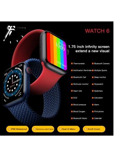 ساعت هوشمند W56 با بند مشکی