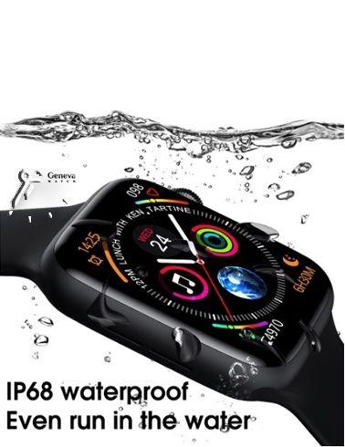 ساعت هوشمند بند مشکی مدل W26